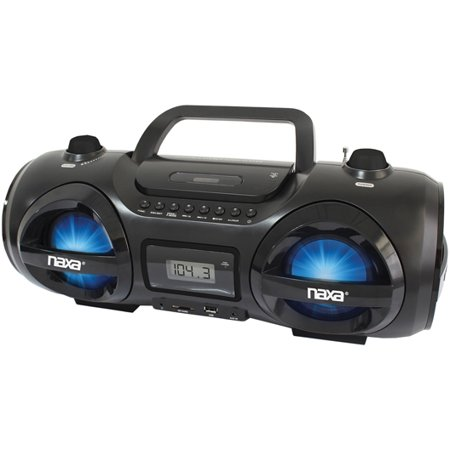Naxa Mp3 Cd Party Boombox And Usb Sd Player   1 X Disc   25 W Integrated Stereo Speaker   Black   Cd Da  Mp3   1710 Khz  108 Mhz   Secure Digital  Sd  Card  Secure Digital High Capacity  Npb258