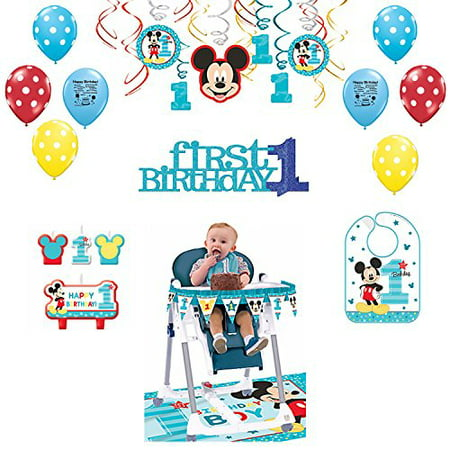 Mickey Mouse 1st Birthday Party Decoration - Birthday Decoration Ideas For Adults