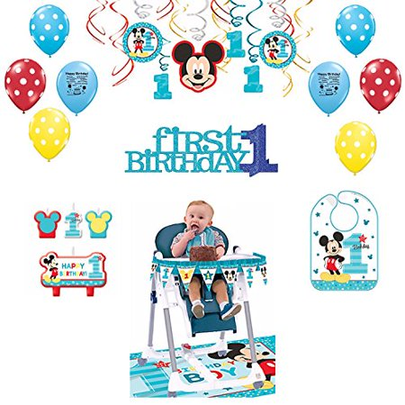 Mickey Mouse 1st Birthday Party Decoration Kit - Baby Mickey First Birthday