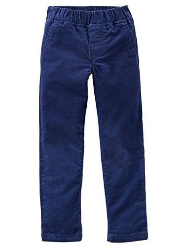 Little Girls' Blue Stretch Corduroy Pants (2 Toddler)