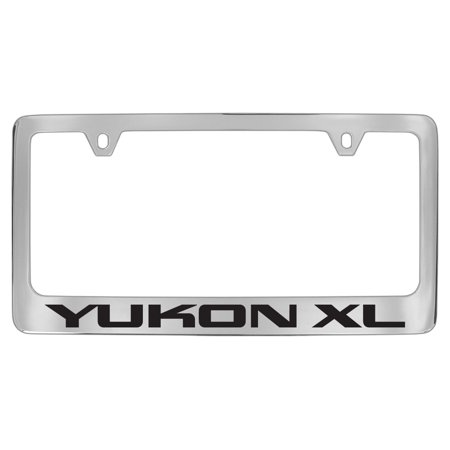 Gmc Yukon Xl Chrome Plated Metal License Plate Frame Holder