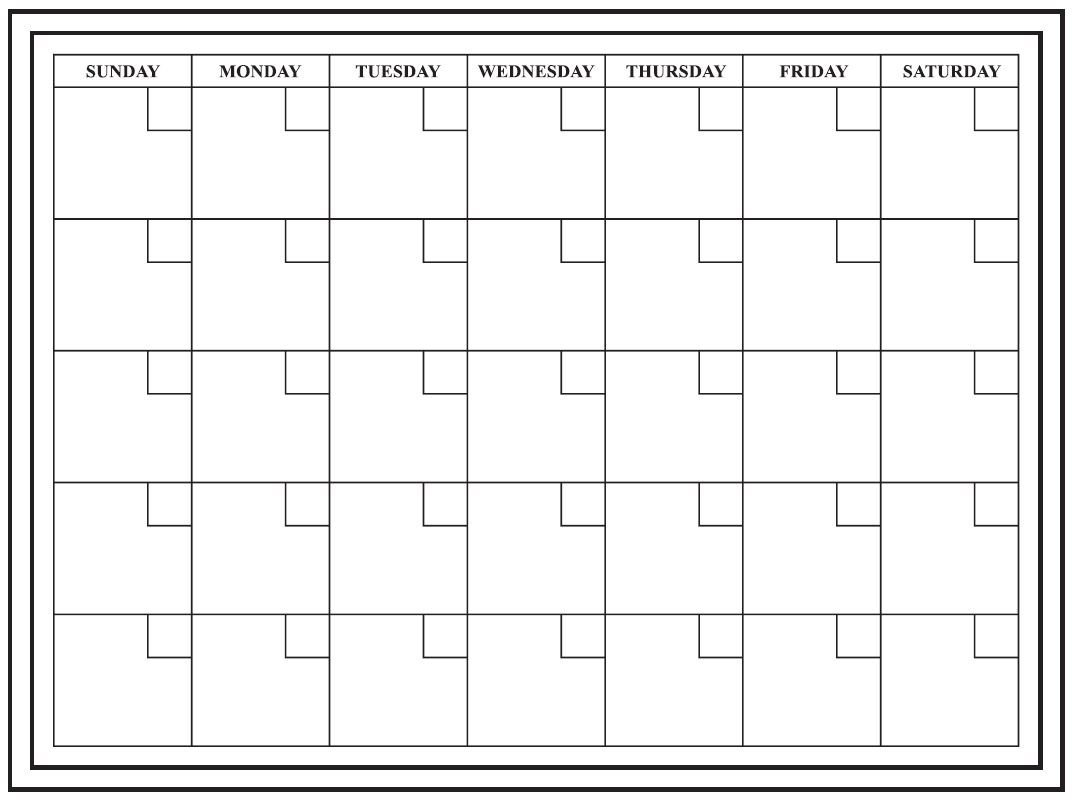 24x18 Large Monthly Dry Erase Calendar. Wall Calendar Monthly Planner . by