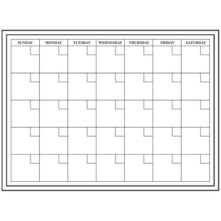 24x18 Large Monthly Dry Erase Calendar. Wall Calendar - Monthly Planner .