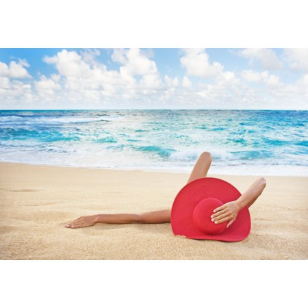 Hawaii Woman Laying On The Beach In Remote Tropical Location - Tropical Lay