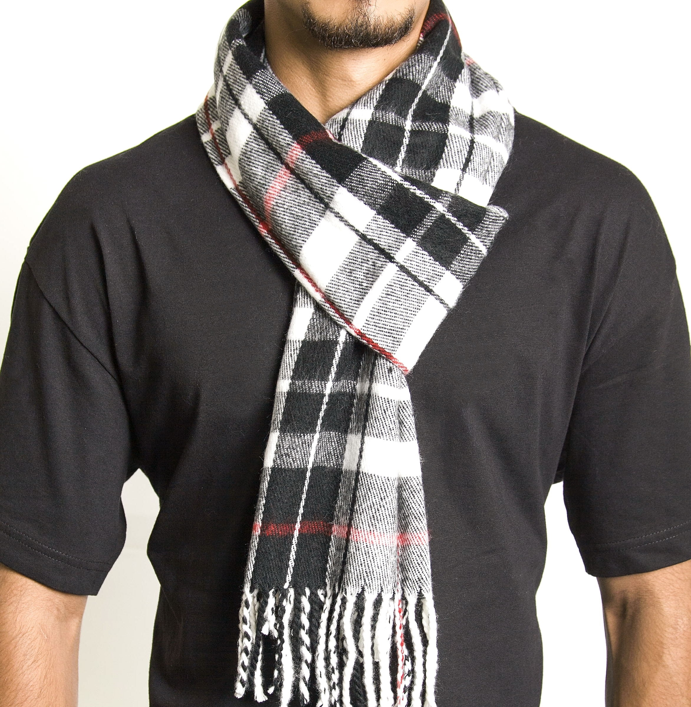 Alpine Swiss Mens Scarves Winter Scarf Plaid Long Stole Cowl Womens Wrap Shawl