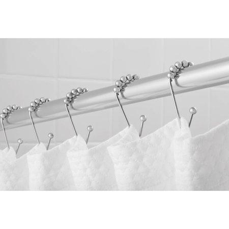 Hotel Style Open V-Glide Shower Hooks with Easy Glide, 1 Each