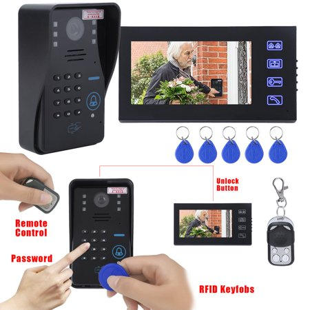 7Inch Lcd Rfid Password Video Doorbell Intercom Remote Access Control System