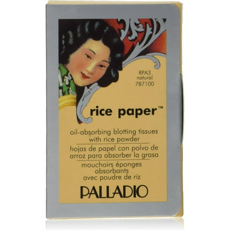 Palladio Rice Paper Natural Blotting Tissues 40 ea