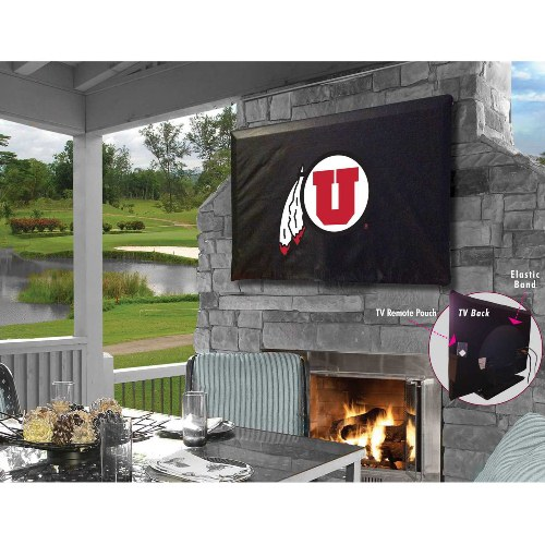 NCAA Outdoor TV Cover by Holland Bar Stool, 46'' x 28'' - Utah Utes