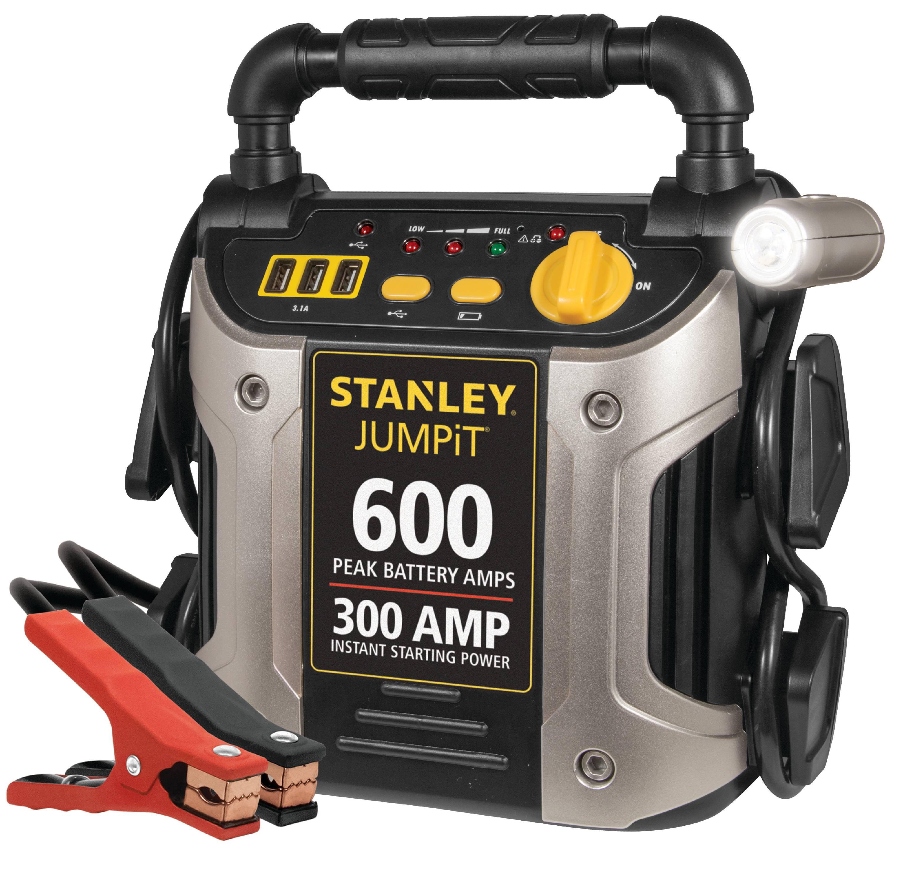 STANLEY 600/300 Amp 12V Jump Starter with LED Light and USB (J309)