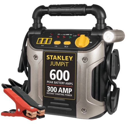 STANLEY 600/300 Amp 12V Jump Starter with LED Light and USB