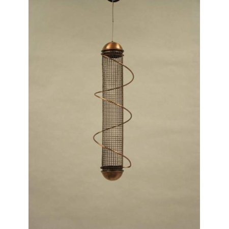 """SBF4C 17"""" Spiral Peanut Bird Feeder - Copper, Patented spiral perch attracts more birds and allows more birds to feed By Bird Quest"""