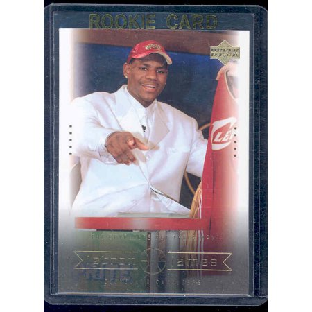 Upper Deck Rookie Class Card - 2003 Upper Deck #8 Cavaliers get their Man Lebron James Rookie Card