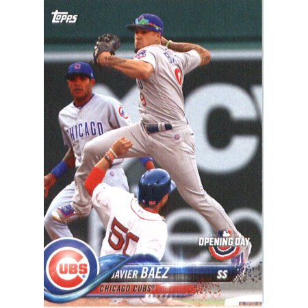 2018 Topps Opening Day 26 Javier Baez Chicago Cubs Baseball Card