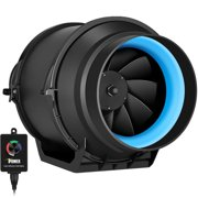 iPower 6 Inch 350 CFM Inline Duct Fan with Variable Speed Controller Ventilation, Quiet HVAC Exhaust Blower, Black