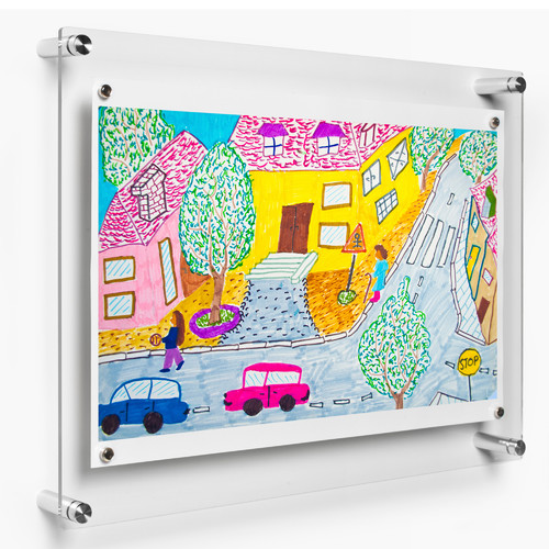 Wexel Art Rectango Floating Picure Frame Walmart Com