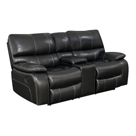 "Coaster Company 79"" Willemse Casual Motion Loveseat, Black"