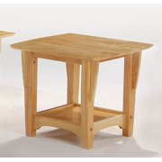 Wood End Table in Natural Finish