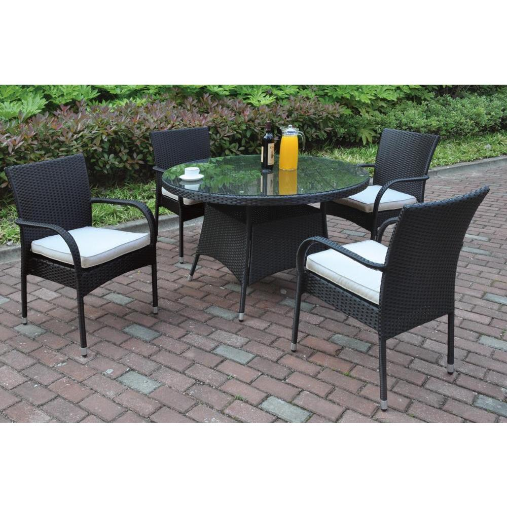 CDecor Bolinas Casual Dark Brown/ Tan 5 Piece Patio Set