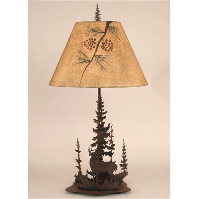 Deer Family Round Metal Art Table Lamp Walmart Com