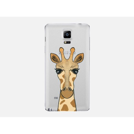 Giraffe Folded Note - Giraffe Large Image Animal Phone Case Clear - For Apple iPhone - Samsung Galaxy - Note