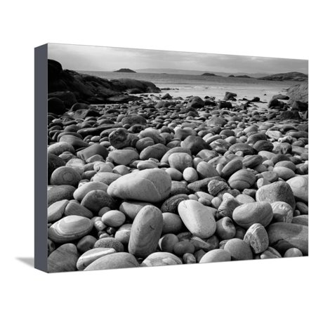 Pete Canvas Art (Stony Beach on Knoydart Peninsula, Western Scotland Stretched Canvas Print Wall Art By Pete Cairns)