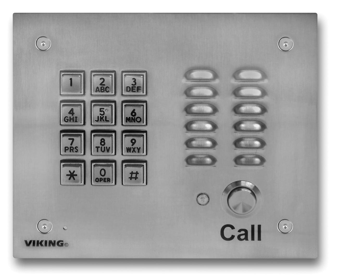 Viking Electronics SS Handsfree Phone W/ Key Pad