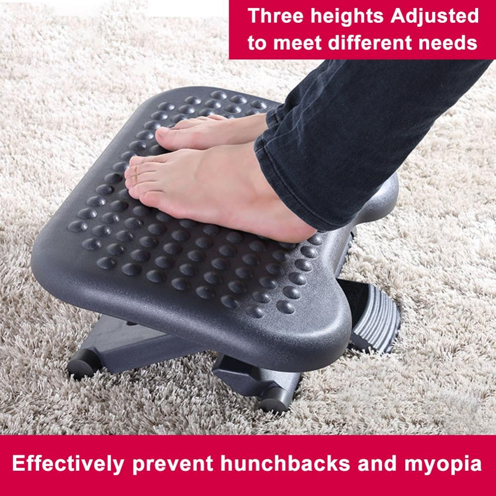 Vbestlife Adjustable Height Foot Rest Stool Ergonomic Portable Comfortable Under Desk Home Office Foot Stool Office Foot Rest Walmart Com Walmart Com