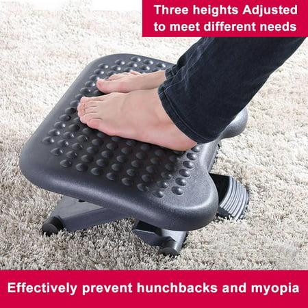 Aramox Adjustable Height Foot Rest Stool Ergonomic Portable Comfortable Under Desk Home Office, Portable Foot Stool, Foot Stool ()