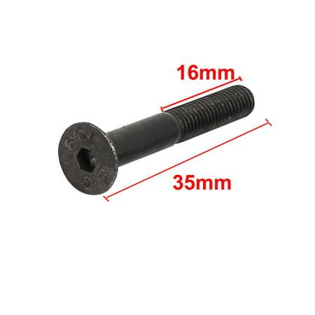 M5x35mm 16mm long à tête filetée partiellement six pan creux 20pc - image 2 de 4