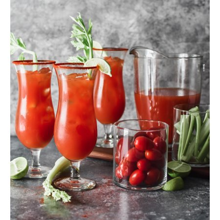 - Better Homes & Gardens Bloody Mary Pitcher and Glass Set, 10 Pieces