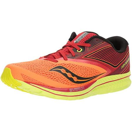 a7e60af5 Saucony Men's Kinvara 9 Running Shoe, Orange/Red/Black, 14 D US