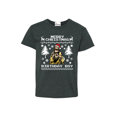 merry christmas birthday boy youths t shirt christmas shirts - Christmas Shirts Walmart