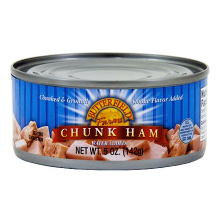 (4 Pack) Butterfield Farms Chunk Ham with Water Added, 5 oz
