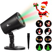 1byone Christmas Decor Outdoor Indoor LED Projector Light 4in1 Auto-Shift Images