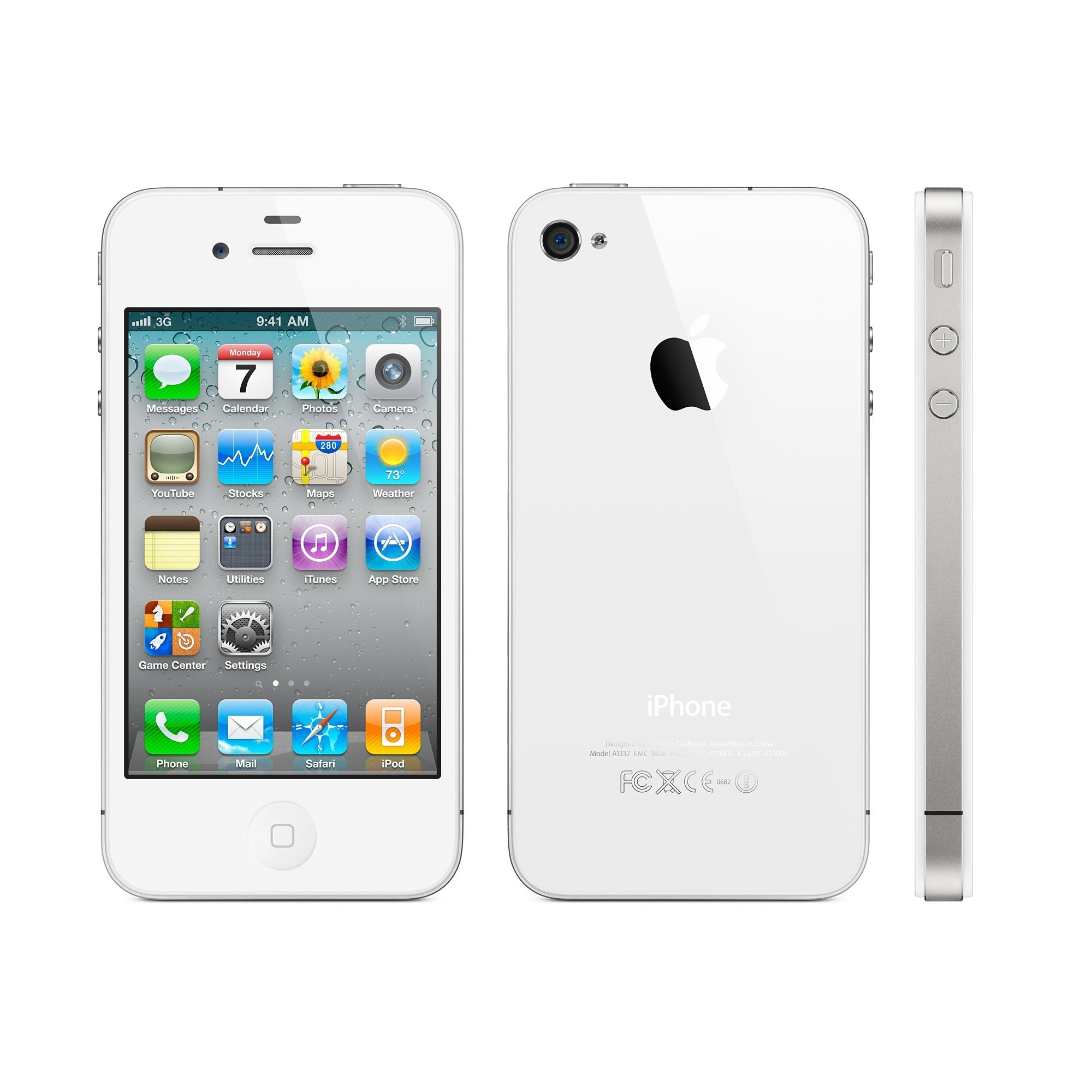 Apple iPhone 4s 8GB White (AT) Grade B