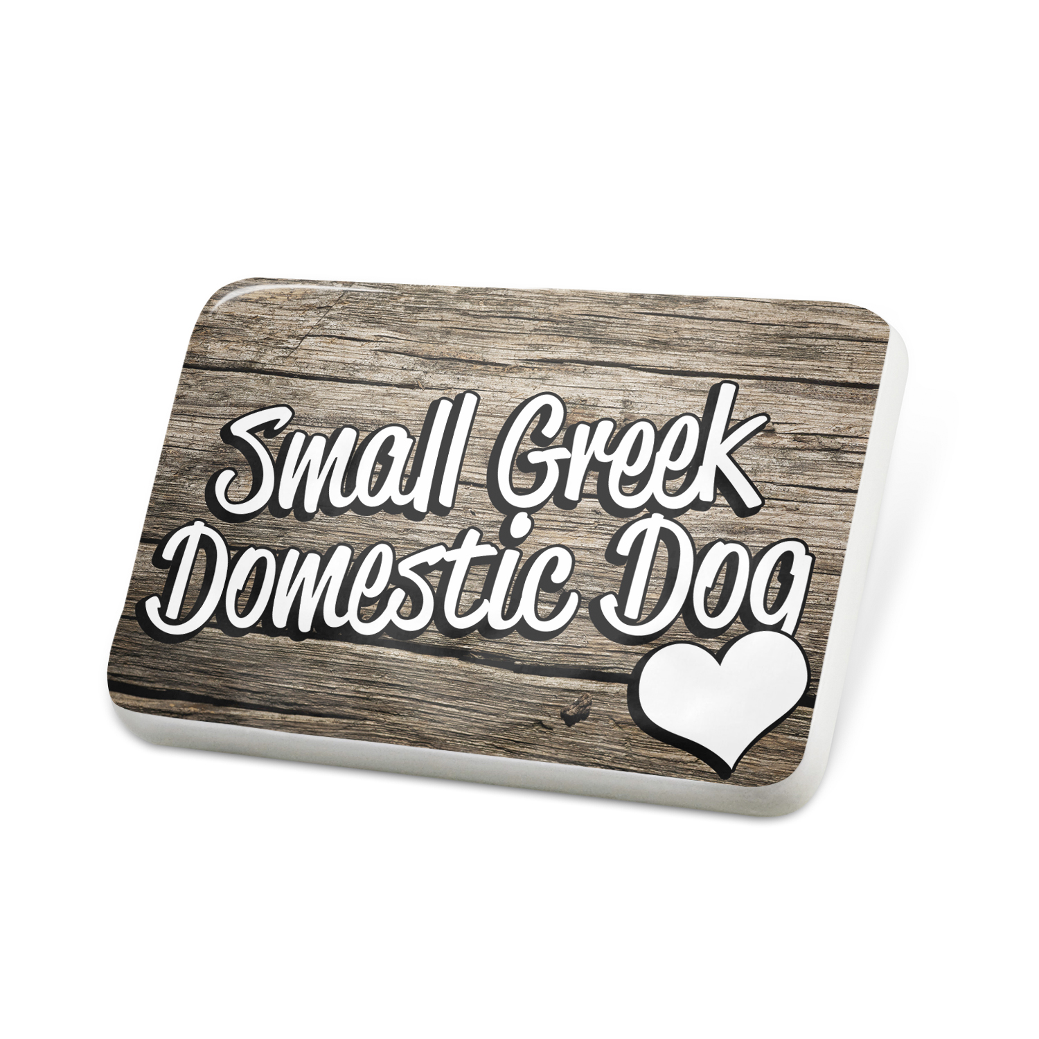 Porcelein Pin Small Greek Domestic Dog, Dog Breed Greece Lapel Badge – NEONBLOND
