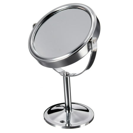 6 Inch 360 degrees Table Mirror Magnification Tabletop Vanity Standing Oval Mirror Two Side Makeup  - image 1 de 10