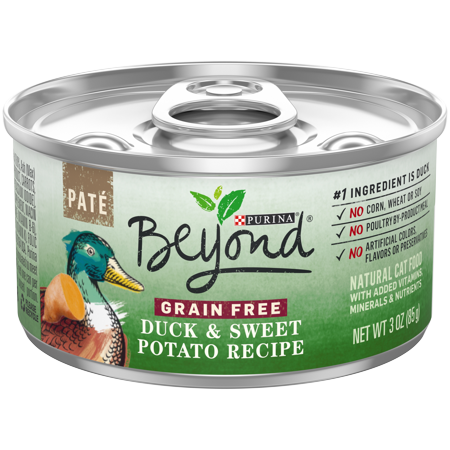 Perigord Duck Pate ((12 Pack) Purina Beyond Grain Free Duck & Sweet Potato Recipe Pate Wet Cat Food, 3 oz. Cans )
