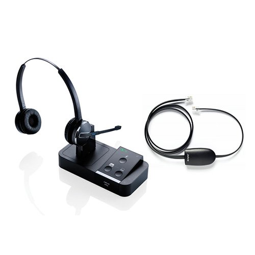 Jabra Pro 9450 Duo Wireless Headset With Ehs Polycom 14201 17 Walmart Com Walmart Com