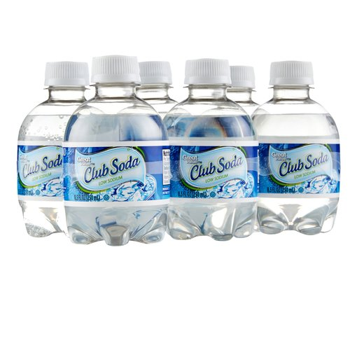 Great Value Club Soda, 8.5 fl oz, 6-Pack
