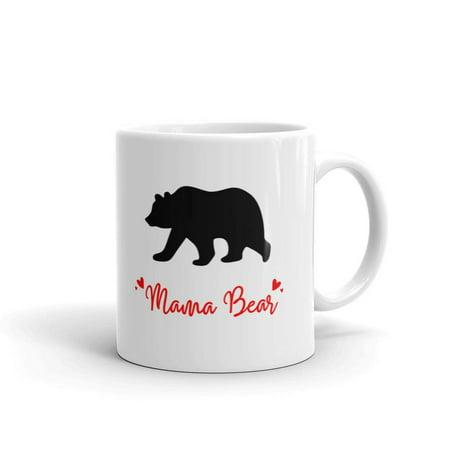 Mama Bear Mother's Day Mom Coffee Tea Ceramic Mug Office Work Cup Gift 11 Oz Bear Ceramic Coffee Mug