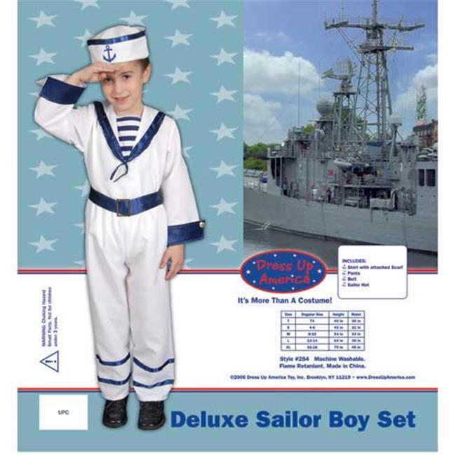 Dress Up America Deluxe Sailor Boy Set Costume Set Large 12-14 284-L