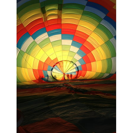 Flight Hot Air Balloons (Canvas Print Flying Fly Hot Air Balloon Flight Colorful Balloon Stretched Canvas 10 x 14)