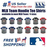 Pets First MLB Houston Astros Hoodie Tee Shirt for Dogs and Cats, Warm and Comfort - Small