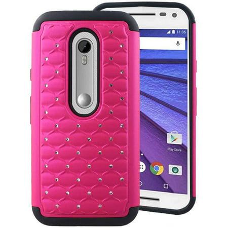 Encased Gems - Motorola Moto G (3rd Gen) Case - Impact XB Bling Jewel Cover