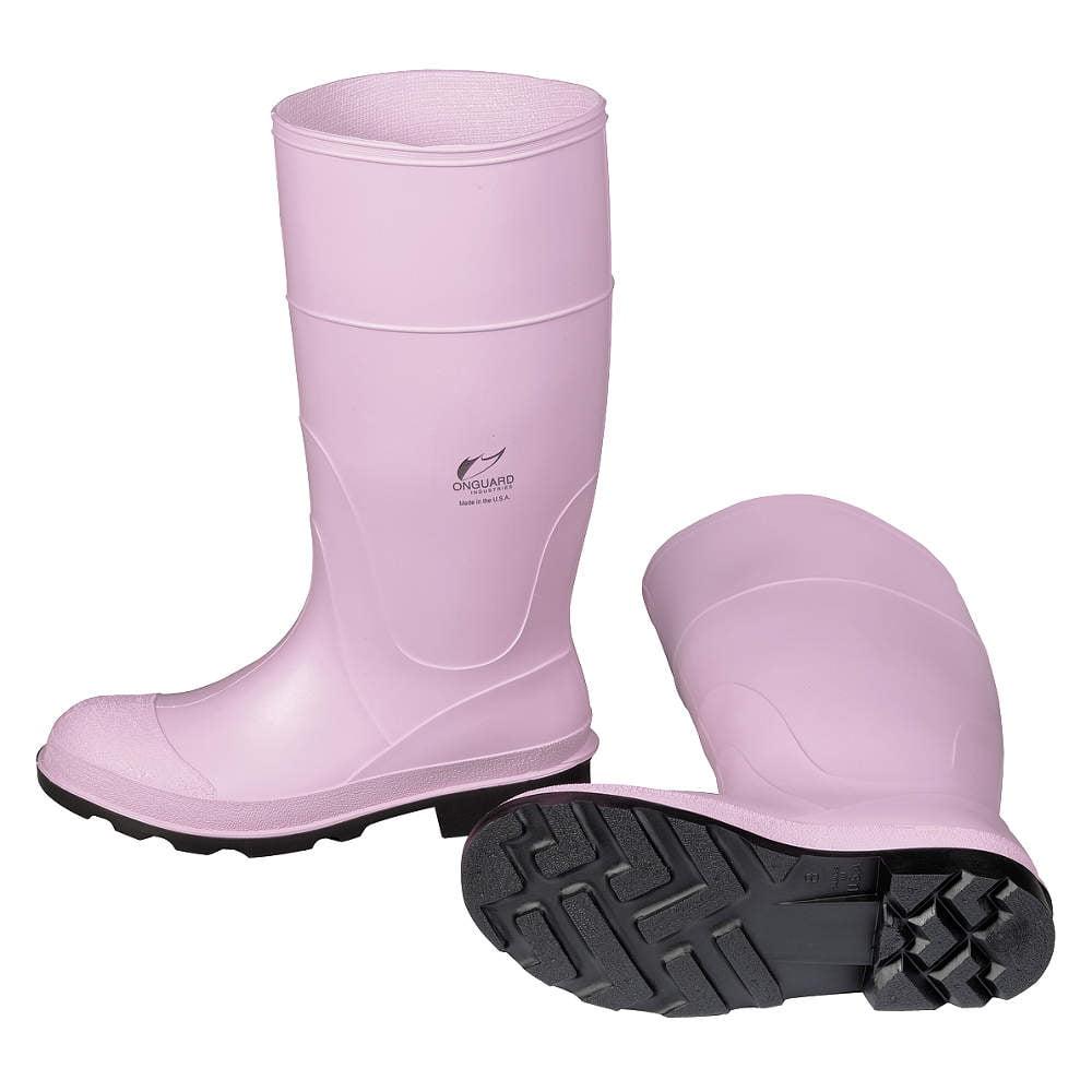 Boots,Womens,Steel Toe,PVC,6,PR