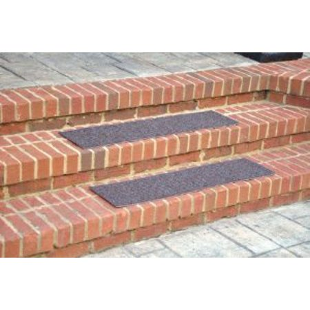 "Dean Indoor/Outdoor Non Skid Stair Treads - Brown 24"" x 9"" (3)"