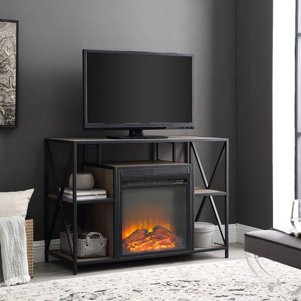 Nash Fireplace Tv Stand By River Street Designs Walmart Com Walmart Com