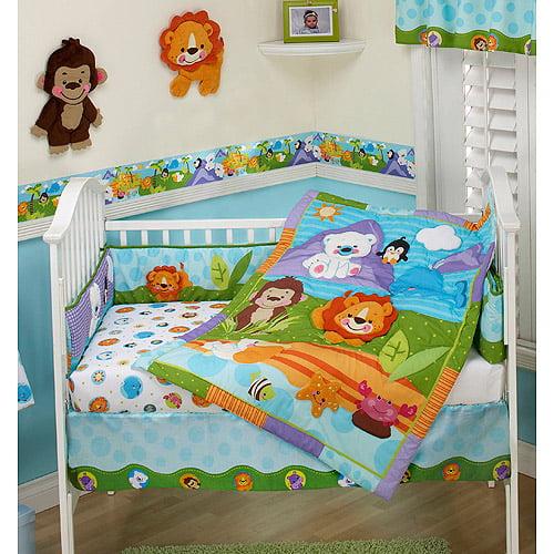 Fisher Price Precious Planet 3pc Crib Bedding Set